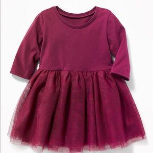 Old navy baby's burgundy tutu dress